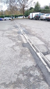 Silver Street Car Park after the potholes have been repaired